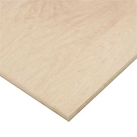 purebond 3 4 in x 4 ft x 8 ft maple plywood 263012 the home depot