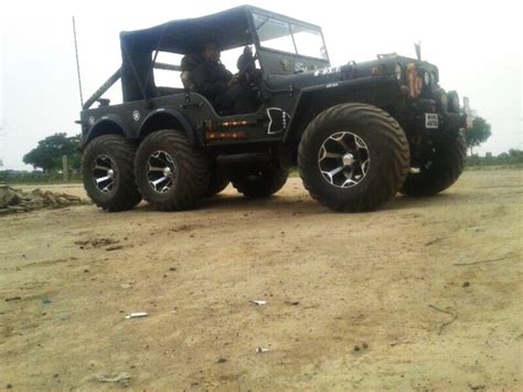 jeep modified in a modified version of willys jeep now converted into a 6x6
