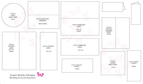 Wedding Card Size Template place cards sizes layouts 187 bespoke wedding stationery