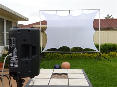 large outdoor projector screens front or rear projection