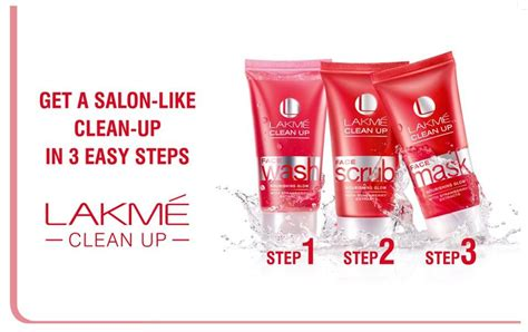8 Steps To A Clean Up by Lakme Clean Up 3 Steps Vanitynoapologies Indian Makeup And