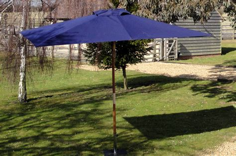 Parasol Blue Rectangular 3 X 2 5m Hardwood Large Garden Large Rectangular Patio Umbrellas