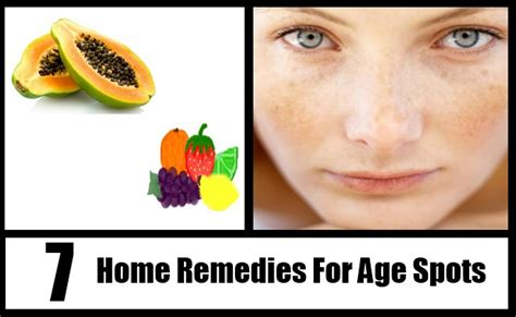 7 excellent home remedies for age spots treatments