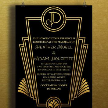 gatsby invite template best gatsby invitations products on wanelo