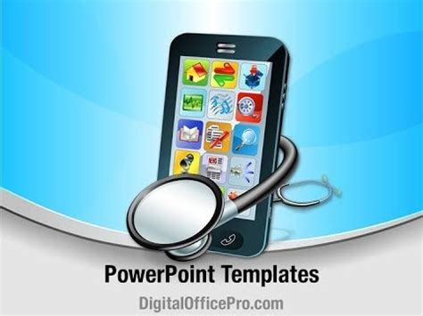 Mobile Medical Apps Powerpoint Template Backgrounds Health Care App Free Ppt Templates