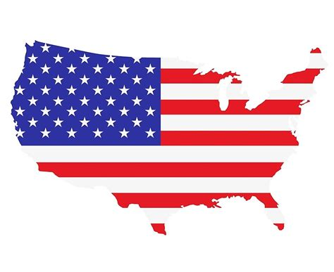 quot american flag usa map outline quot canvas prints by