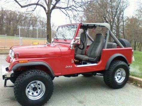 Used Jeeps For Sale In Delaware Find Used Jeep 1984 Cj7 Cherry In Wilmington