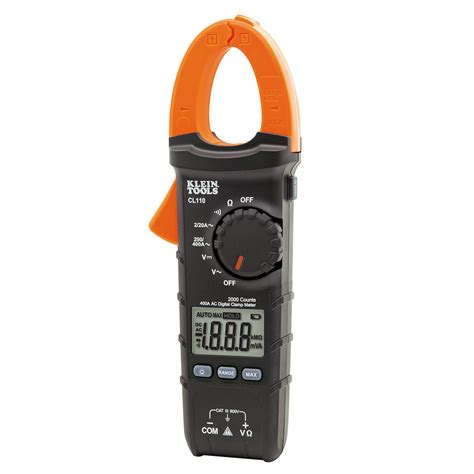 Digital Cl Meter Dekko digital cl meter ac auto ranging 400a cl110 klein tools for professionals since 1857