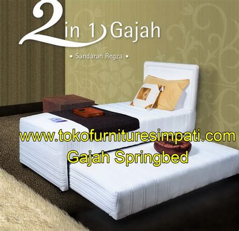 Kasur Bed Gajah gajah 2 in 1 toko kasur bed murah simpati furniture