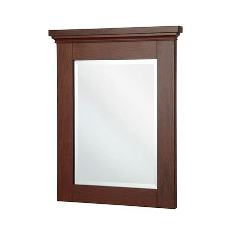 home decorator home depot home decorators collection manchester 29 in l x 23 in w wall mirror in mahogany mngm2329 the