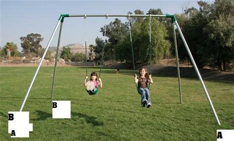 high end swing sets the image shows a two legged end one bay 2 swing set