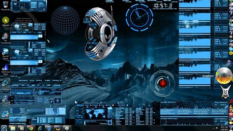 pc themes live windows 7 3d desktop computer theme youtube