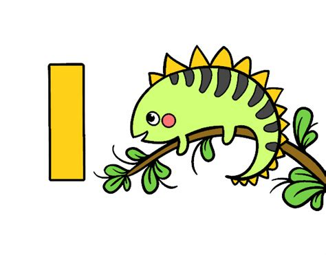 imagenes para pintar iguana dibujo de i de iguana pintado por aiyan en dibujos net el