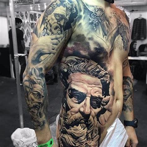 torso tattoos for men 80 zeus designs for a thunderbolt of ideas