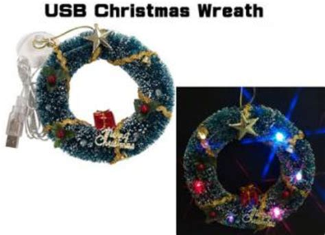 usb christmas decorations wreath and tree slashgear