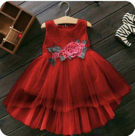 Baju Anak Dress Merah baju dress pesta anak perempuan desain cantik lucu terbaru
