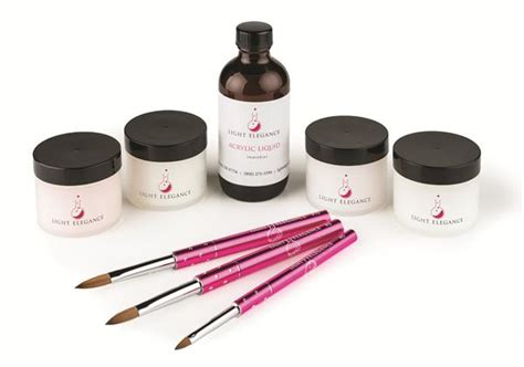 acrylic nail products light elegance launches acrylic line technique
