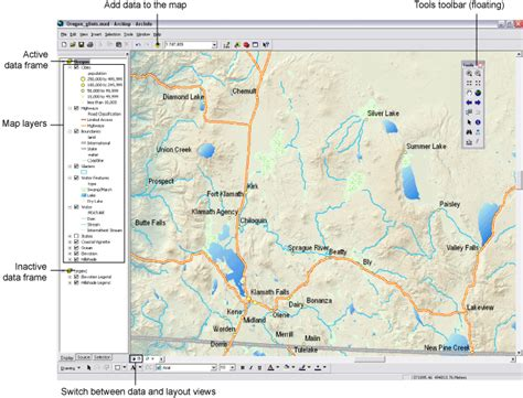 arcgis layout view data frame arcgis desktop help 9 3 data frames