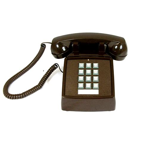 Cortelco Desk Phone by Cortelco 250045 Vba 20m Brown Desk Phone With Volume