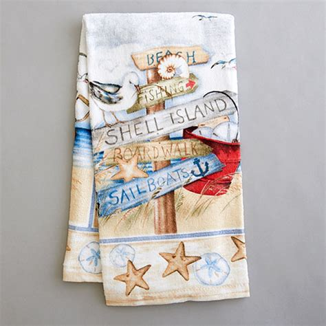 Kay Dee Designs Kitchen Towels by Kay Dee Designs Beach Signs Terry Kitchen Towel Boscov S