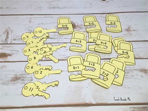 pattern lock math lock and key addition puzzles for kids teach beside me
