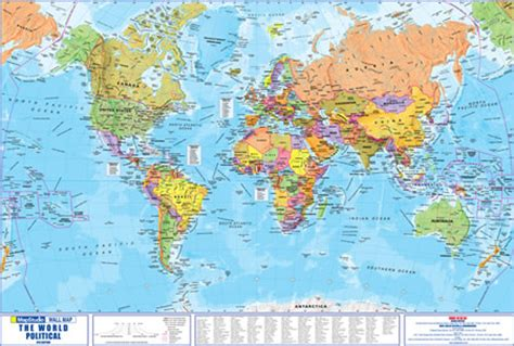 world map all cities and countries world political poster in map studio