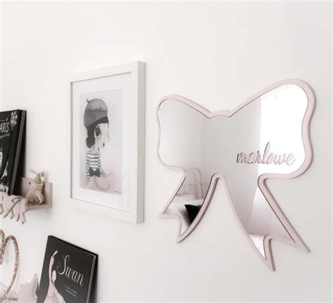 acrylic bathroom mirror ins nordic style butterfly batman cloud shatterproof