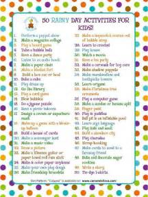 what to do for on day rainy day activities for the