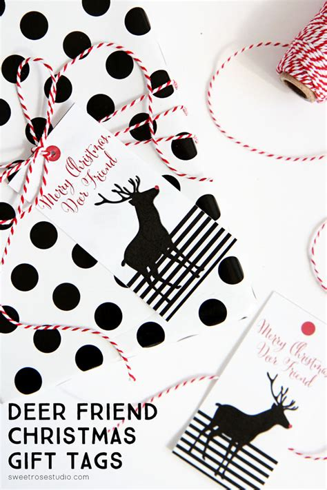 deer friend christmas gift tags sweet rose studio