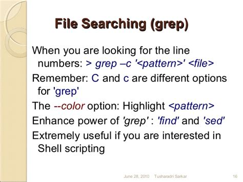 grep pattern line number a quick introduction to linux