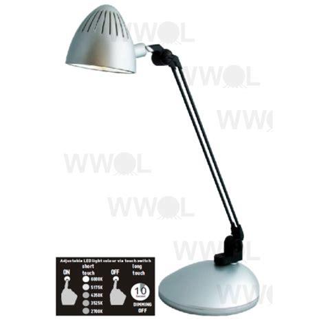 lux led desk l lux task 5 4 watt led desk lamp silver