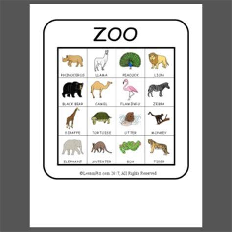 zoo bingo