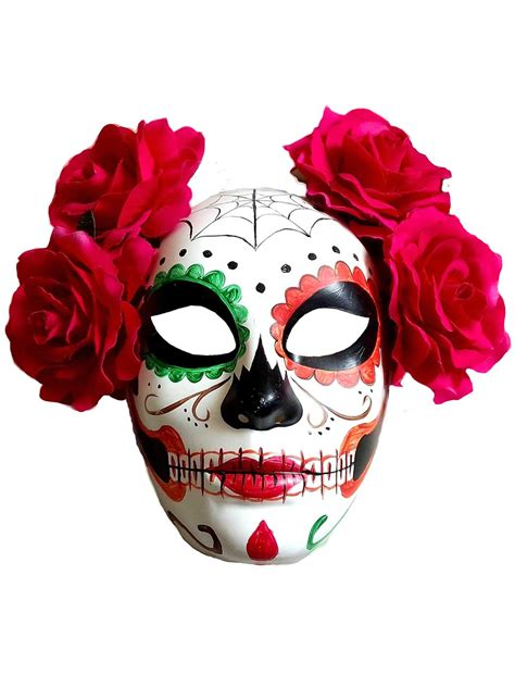 day of the dead sugar skull halloween mask adult halloween day of the dead sugar skull mask