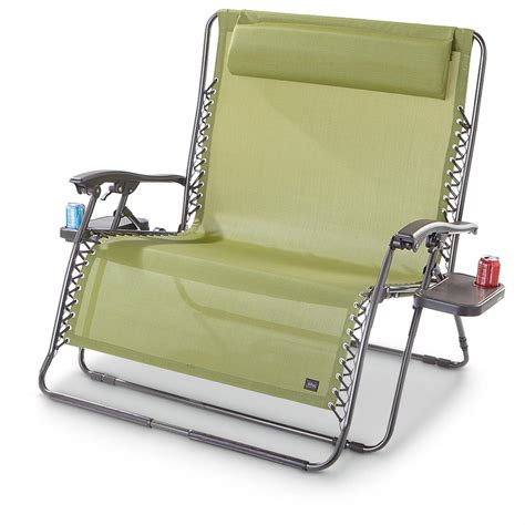 two person recliner chair bliss hammocks 174 2 person gravity free recliner 578462