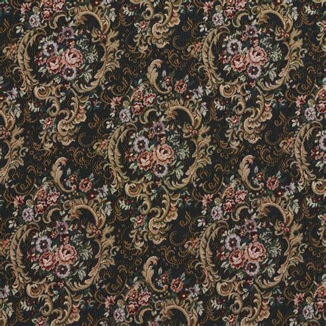 reupholstery fabric navy gold and burgundy floral tapestry upholstery fabric