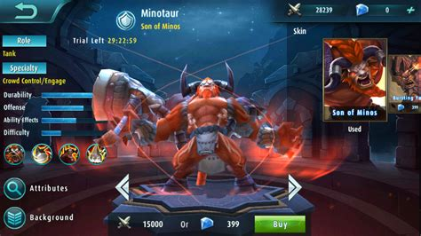 mobile legends heroes mobile legends heroes spotlight minotaur how to play as