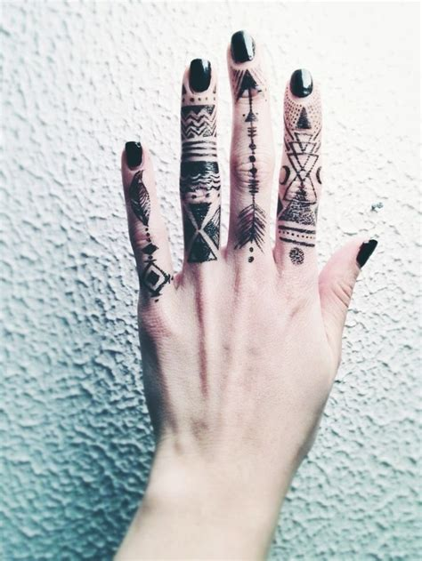 finger tattoos pinterest tattooed fingers bohemian tattoos