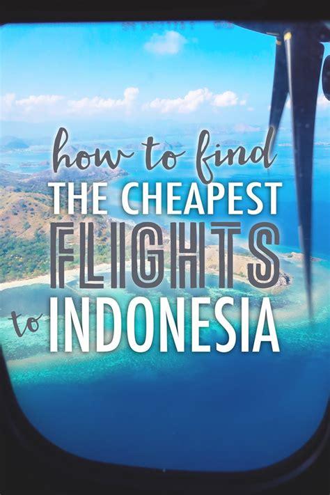 find  cheapest flight  indonesia  blonde