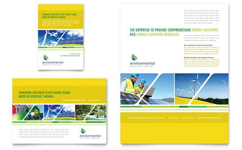 1 page flyer template environmental conservation flyer ad