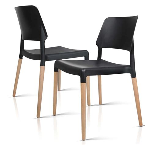 Replica Dining Chairs Set Of 4 Belloch Replica Dining Chair Black