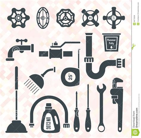 Eps Plumbing Supplies by Vector Set Plumbing Icons And Symbols Royalty Free Stock