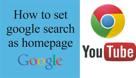 how to set default home page in chrome like