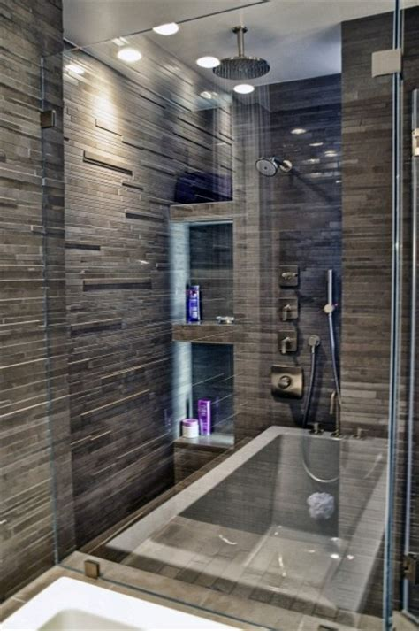 dark tile bathroom ideas shower tile ideas for a lovely bathroom decozilla