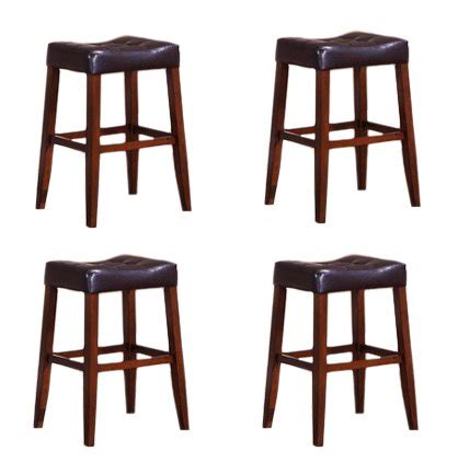 kitchen bar stools online best prices 4 24 quot saddle back espresso kitchen counter bar