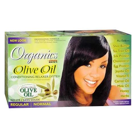 what is the best relaxer to use for gray hair africa s best organics olive oil conditioning relaxer