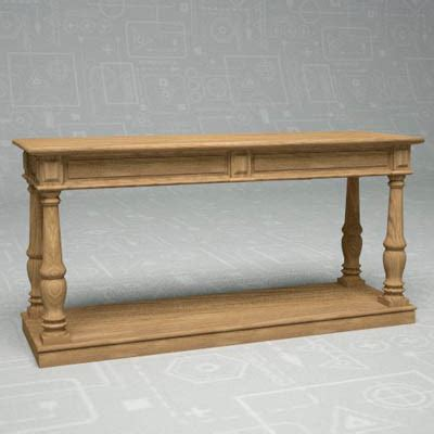Restoration Hardware Console Table Rectory Console 3d Model Formfonts 3d Models Textures