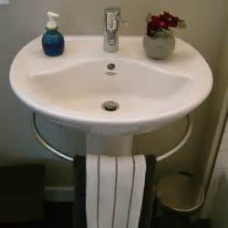 pedestal sink towel bar modern pedestal sink with towel bar homesfeed