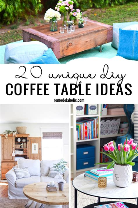coffee table diy ideas remodelaholic 20 unique diy coffee table ideas