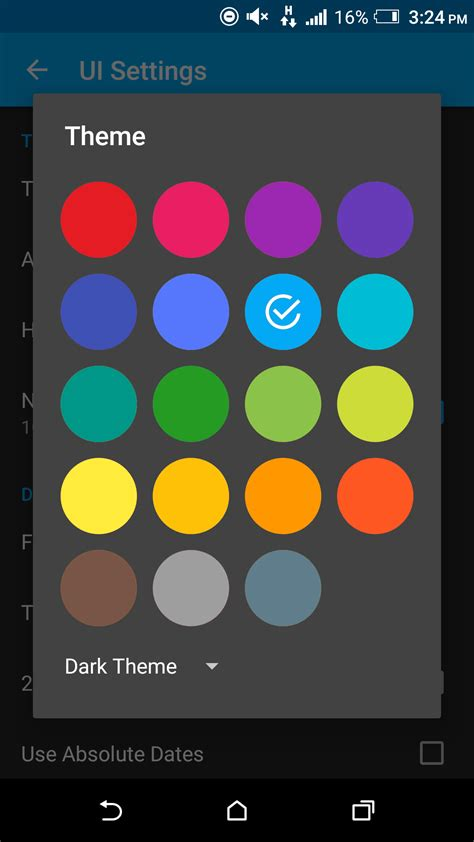 color scheme selector android how to create color selector dialog stack