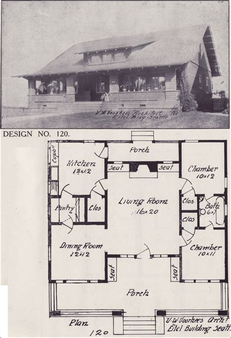 bungalow house plan side gabled centered
